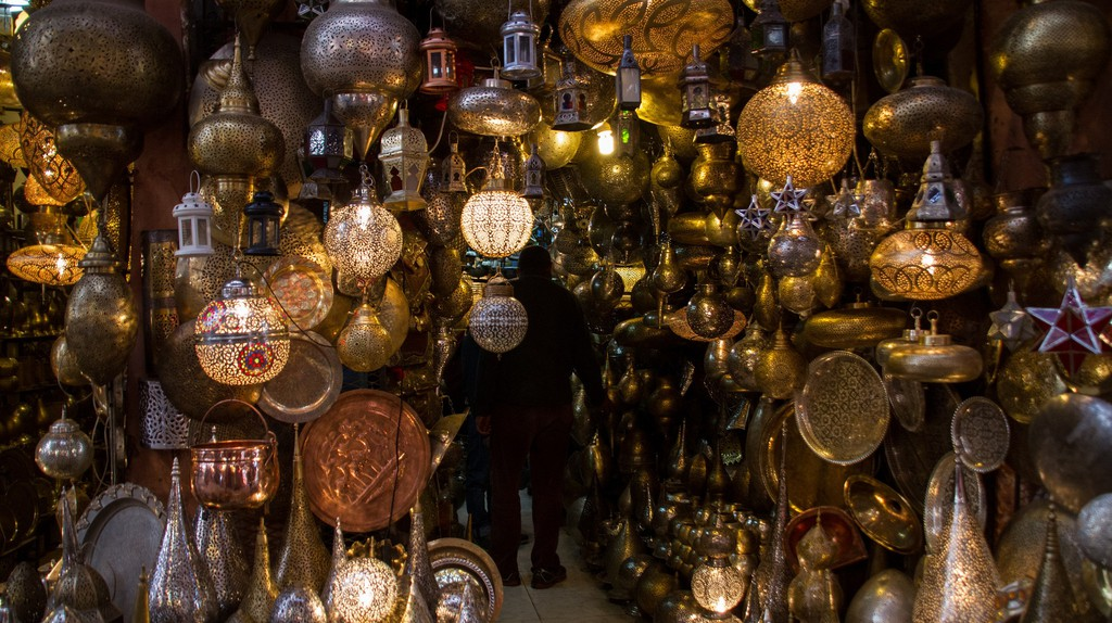 Lanterns in Marrakech's souks | © oliverjpears / Flickr