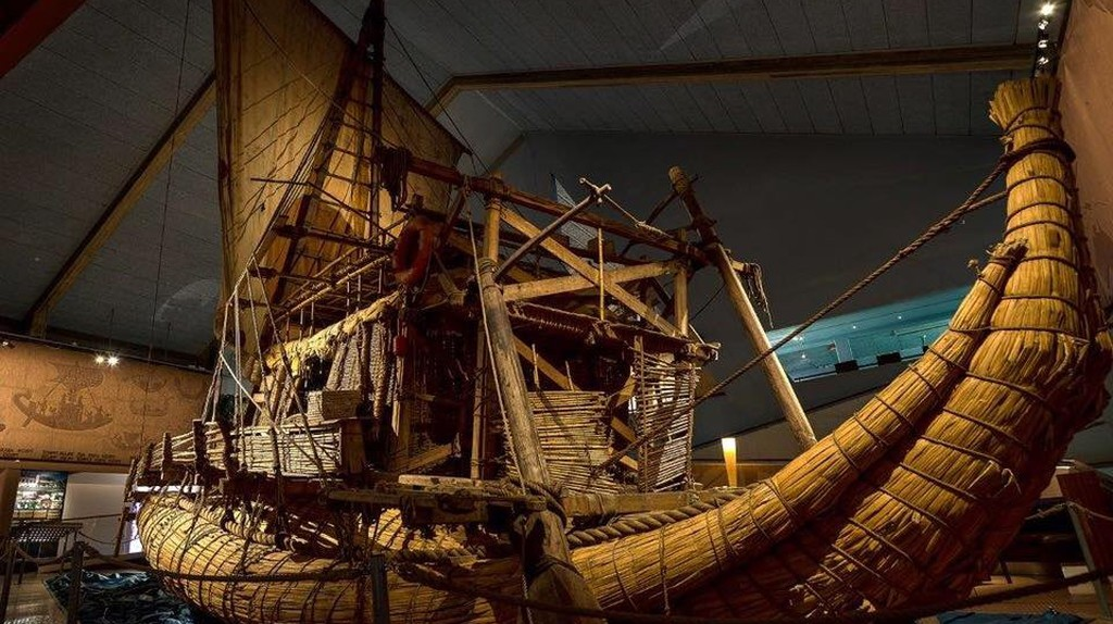 Exhibit at the Kon-Tiki Museum  Courtesy of the Kon-Tiki Museum