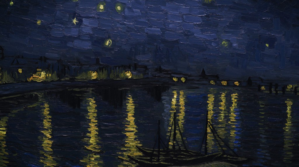 Landscape Starry Night over the Rhone   © Good Deed Entertainment