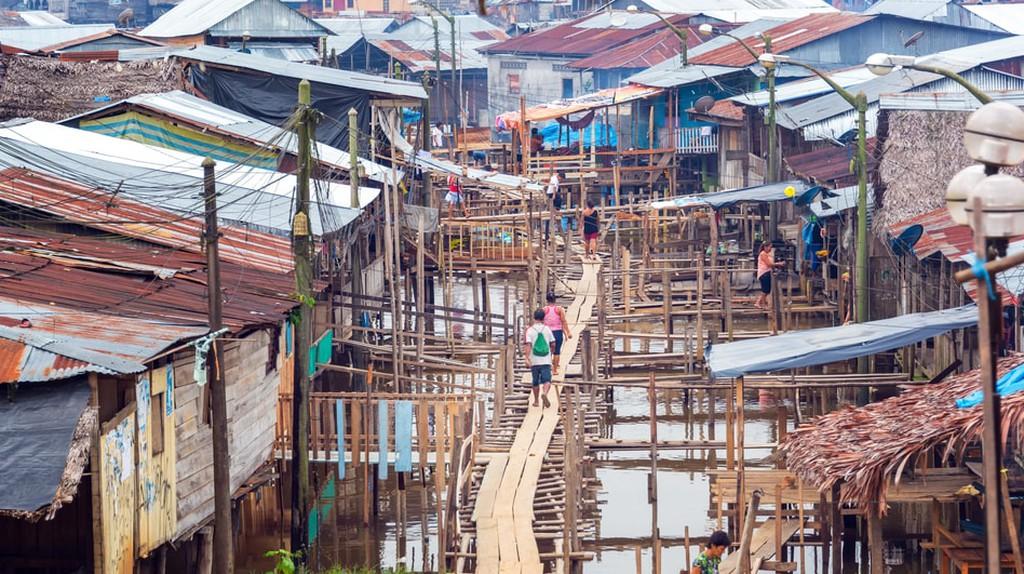 View of the Belen neighborhood in Iquitos, Peru   © Jess Kraft/Shutterstock