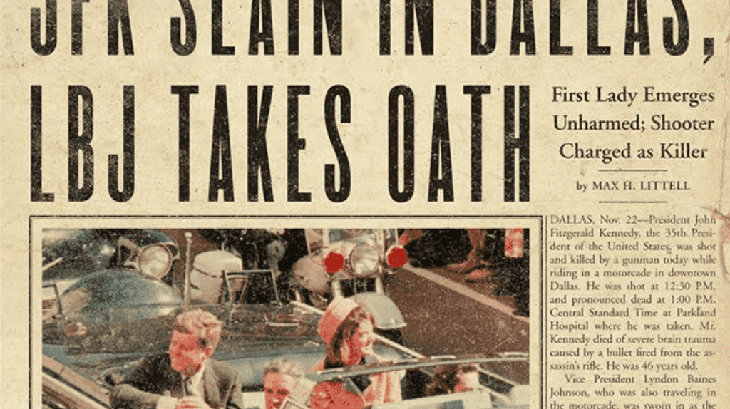 from the cover of Stephen King's '11/22/63', courtesy of Scribner