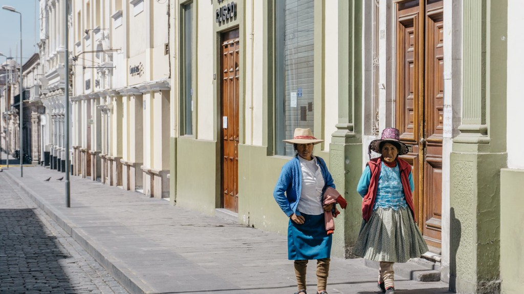 The streets of Arequipa