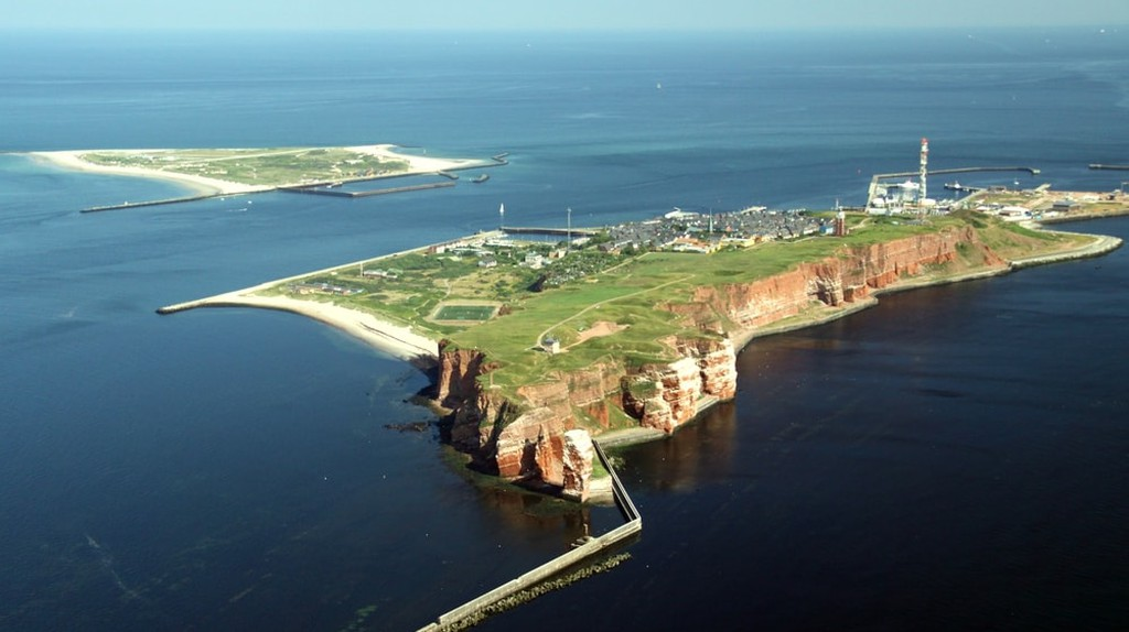 Aerial View of the Island of Heligoland, Germany