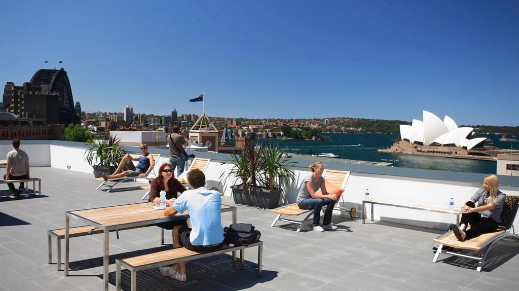 Sydney Harbour YHA rooftop terrace   Courtesy of YHA Australia