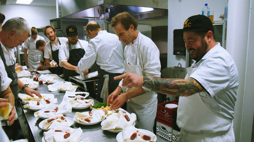 Chef Dan Barber's kitchen at Blue Hill at Stone Barns   courtesy of Super LTD