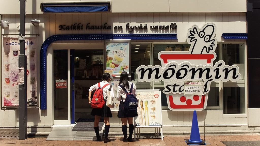 Moomin Stand in Tokyo