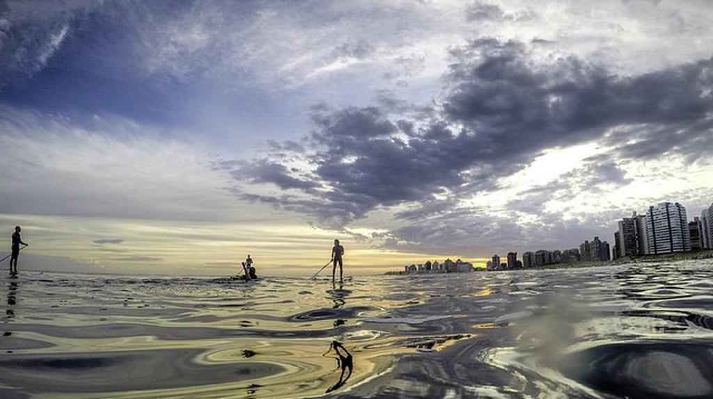 Paddle-boarding in Punta del Este