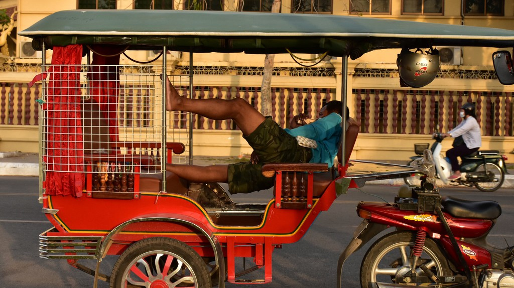 Tuktuks are a common mode of transport