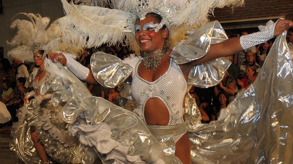 A dancer at the Carnival in Uruguay