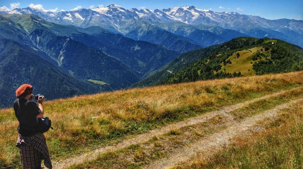 Overlooking the Caucasus Mountain Range in Svaneti | © Baia Dzagnidze