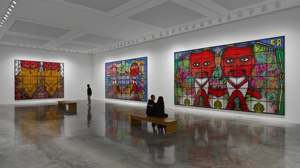 Gilbert & George, 'The Beard Pictures and Their Fuckosophy' at White Cube Bermondsey, 2017 | Courtesy of Galerie d'Art Kaïs
