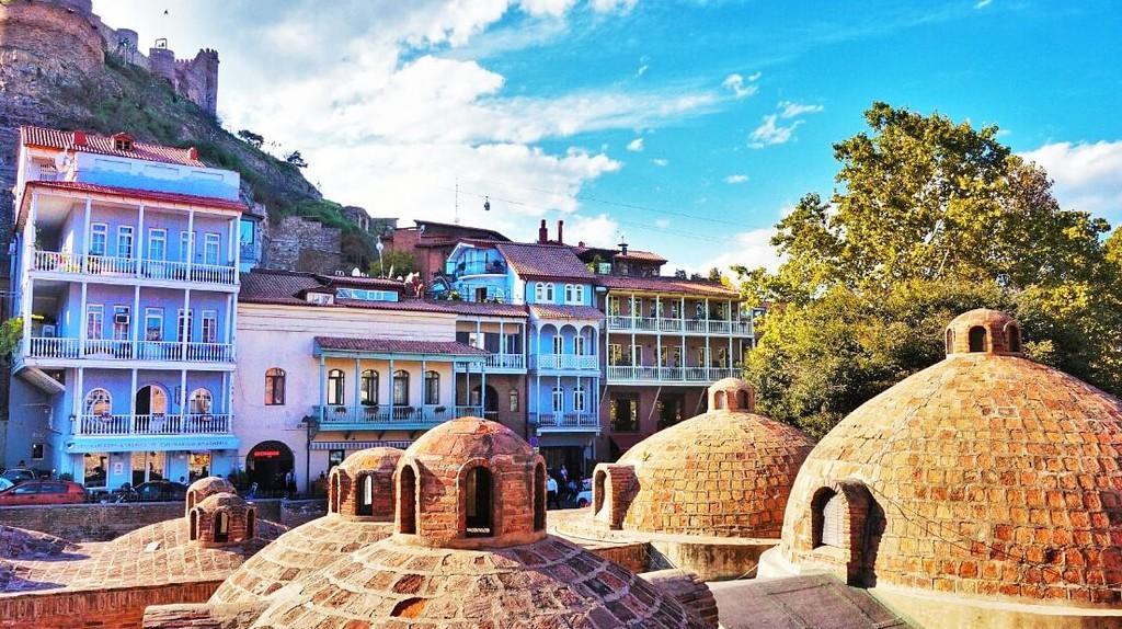 Bathhouse roofs - Abanotubani, Tbilisi | © Rohan Cahill-Fleury