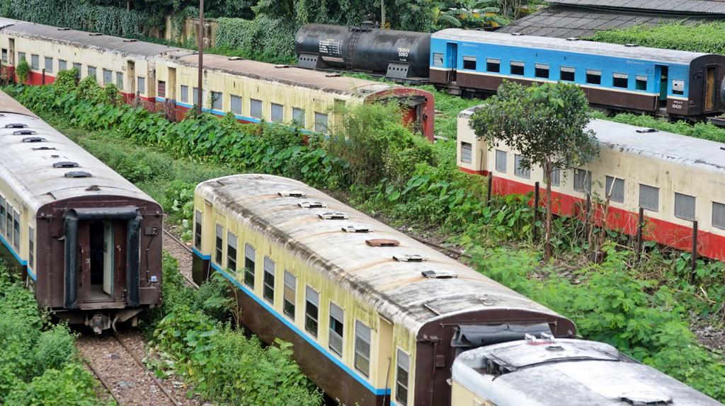 A railyard near Yangon's Central Railway Station, Myanmar   © Chase Chisholm