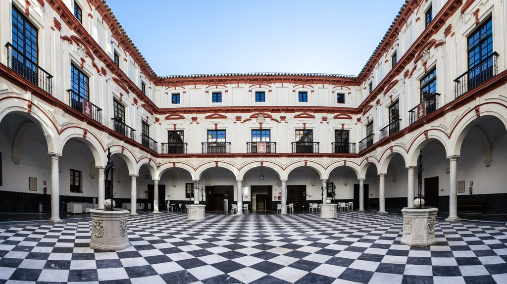 The beautiful internal courtyard at Hotel Convento, Cádiz; courtesy of Hotel Convento