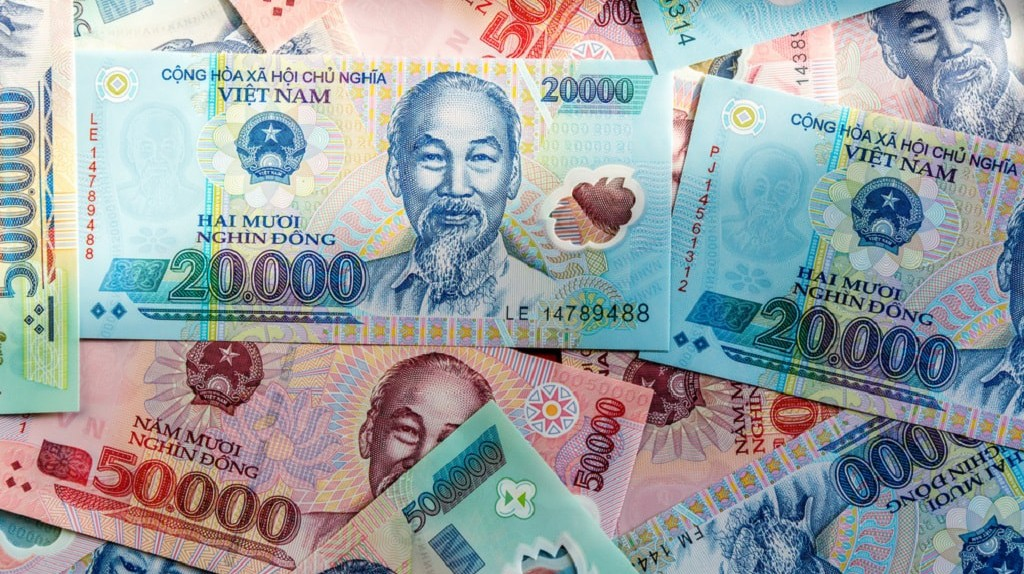 Vietnamese cash takes a bit of getting used to.