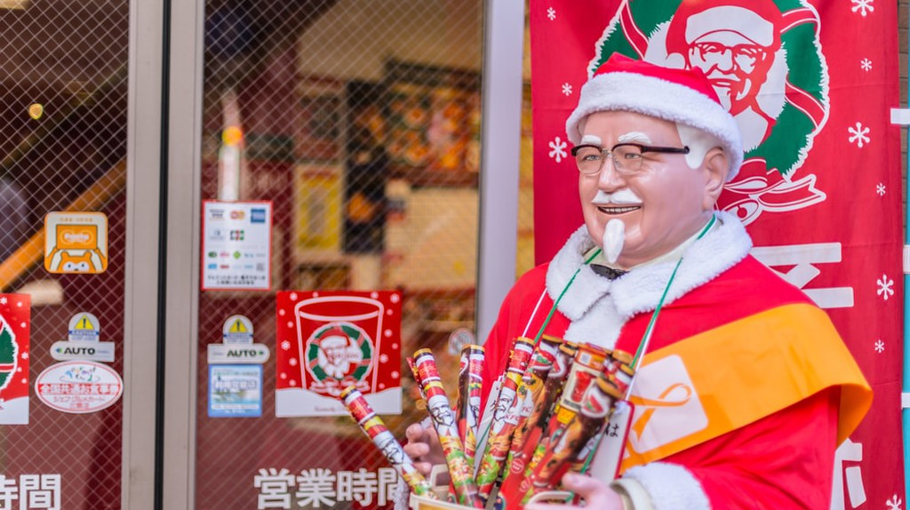 A festive Colonel Sanders greets customers at KFC in Japan | © Quality Stock Arts/Shutterstock