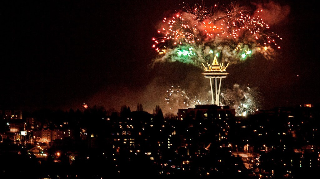 Space Needle on New Year's Eve | © Curt Smith / Flickr
