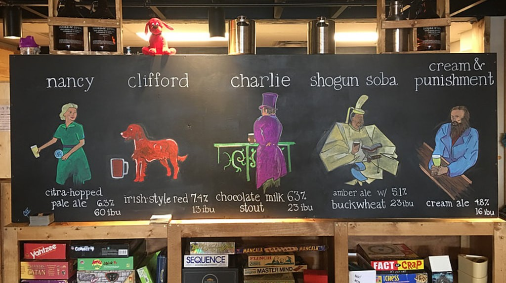 Literature inspired beers   Courtesy of Books & Brews