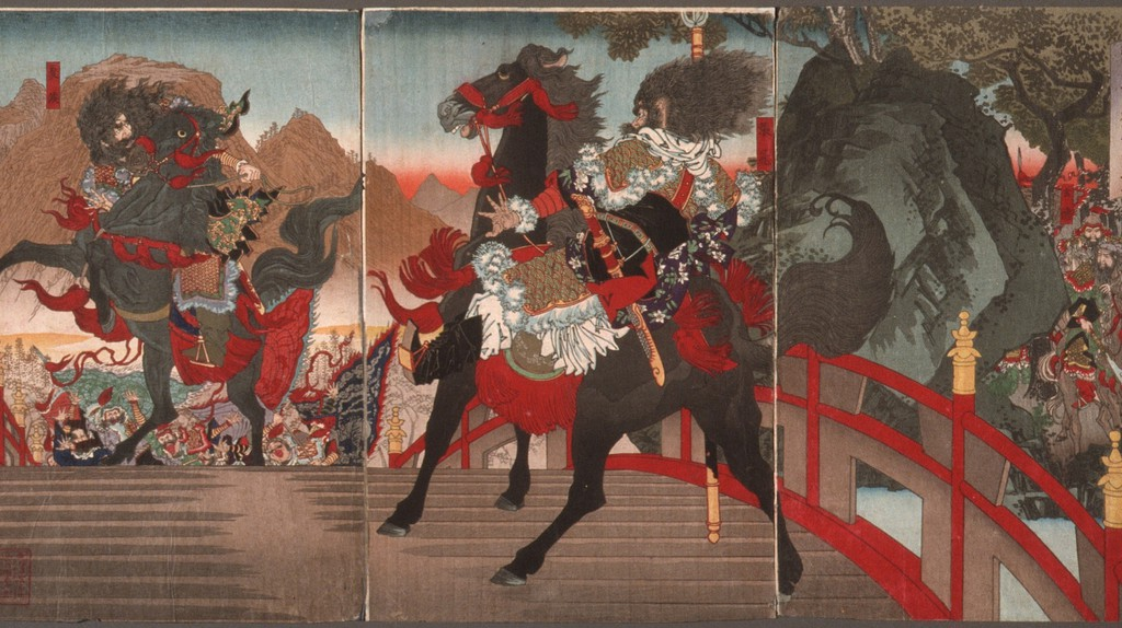 Artistic rendering of the Battle of Changban