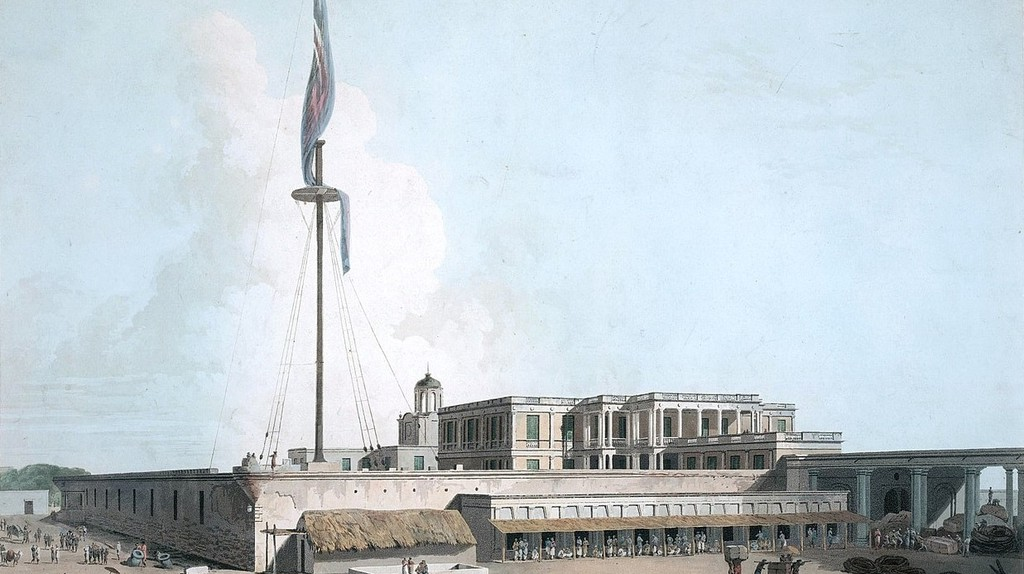 Chennai's Fort St. George, as depicted in a sketch from the 18th-century   ©British Library/Wiki Commons