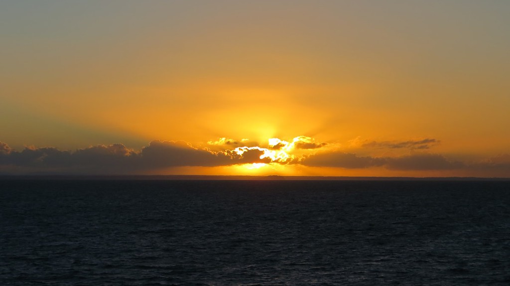Sunset over Reloncavi Sound
