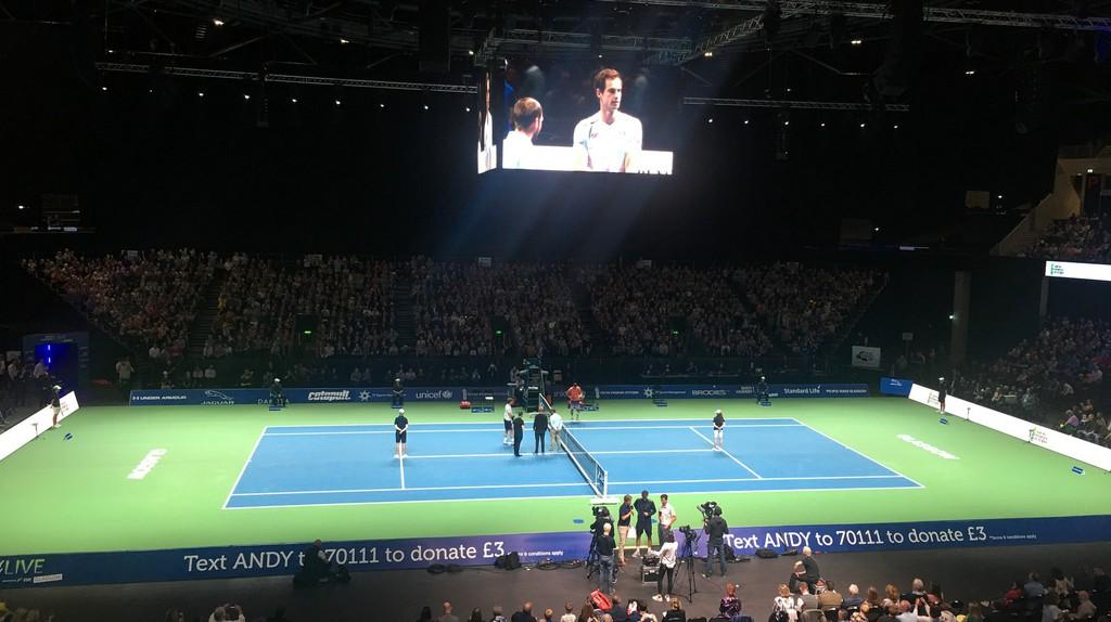 Andy Murray vs Grigor Dimitro at SSE Hydro Glasgow   © David Jones/Flickr