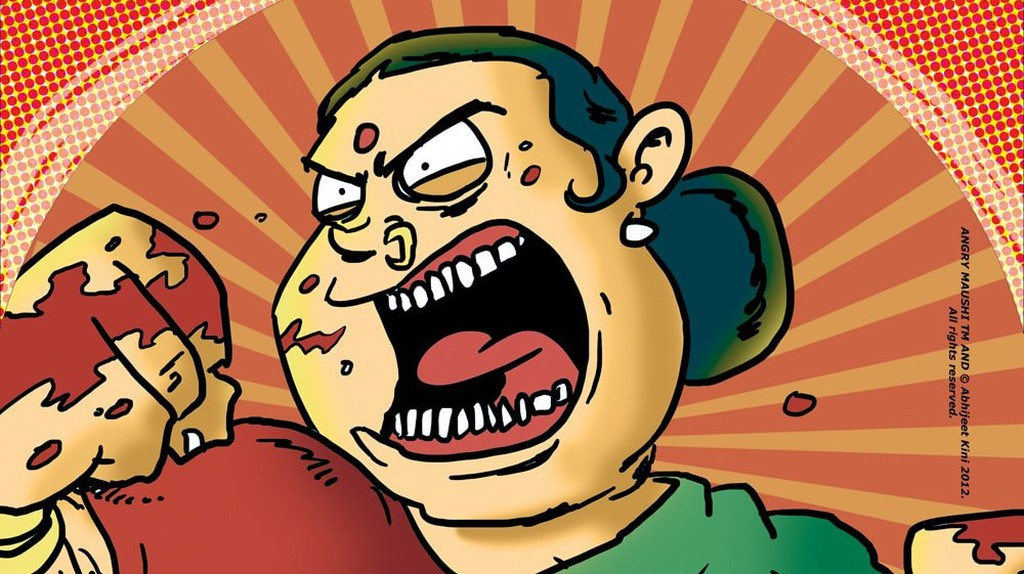 Angry Maushi is one of the most popular graphic novels in India   © Abhijeet Kini Studios