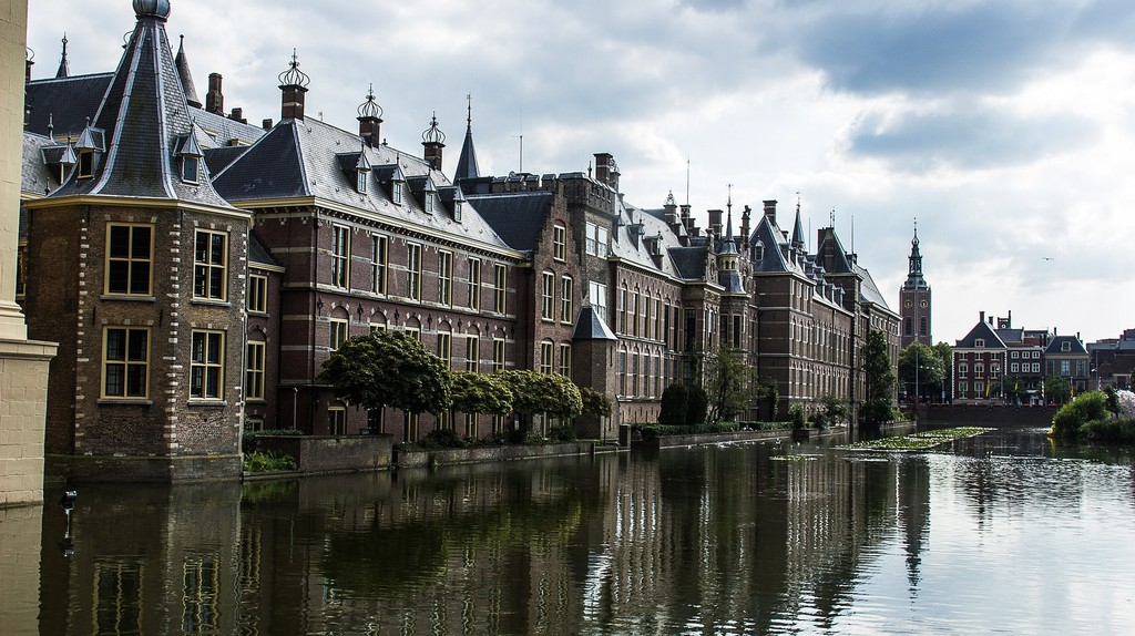 The Dutch houses of parliament in the Hague