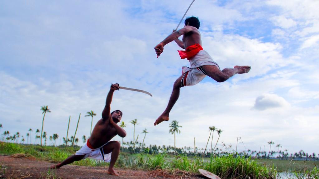 Kalaripayattu, a form of Indian marital arts