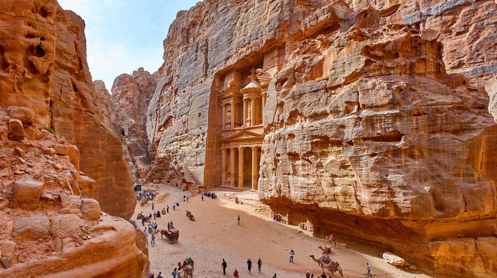The Treasury in the ancient city of Petra