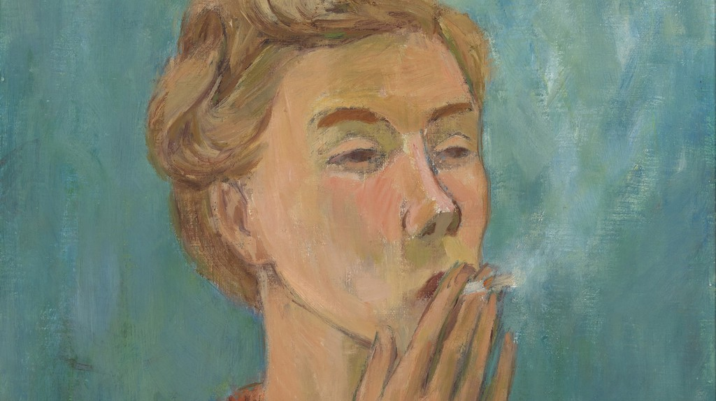 Detail of Tove Jansson, Smoking Girl (Self-Portrait), 1940 | Private Collection. Photo: Finnish National Gallery / Yehia Eweis. © Moomin Characters