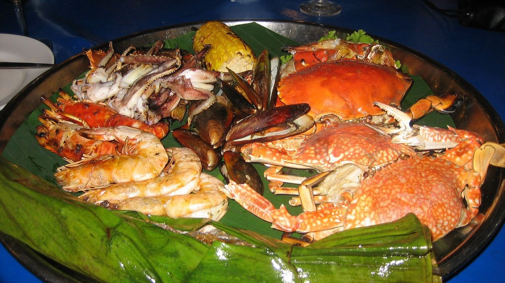 A bounty of seafood