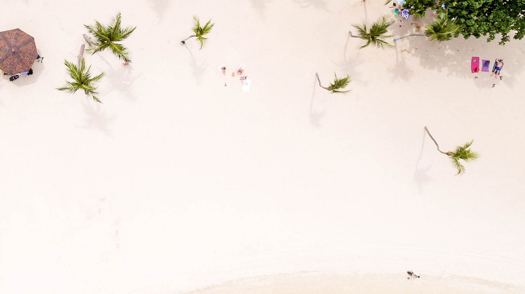 Aerial view of Palawan beach