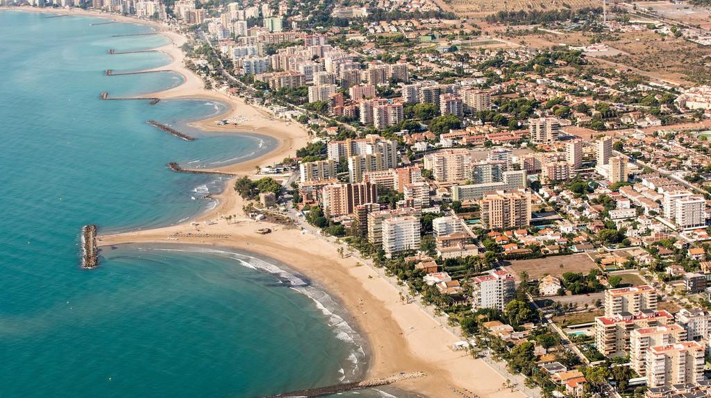 The beaches of Benicassim, Spain