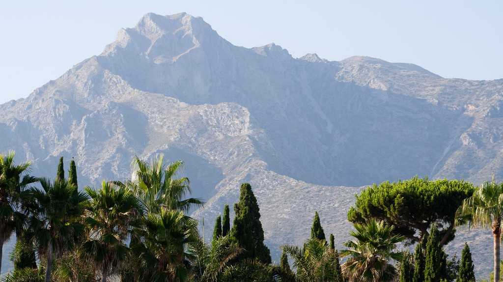 The tree tops of Marbella, with La Concha mountain in the background; Hernán Piñera/flickr
