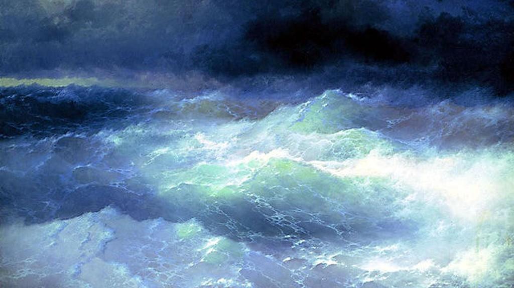'Among the Waves' by Ivan Aivazovsky I © WikiCommons