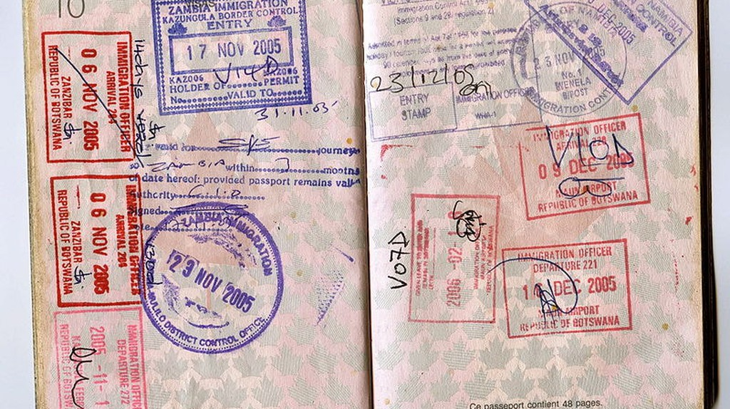 Passport Stamps   © Jon Rawlinson / WikiCommons
