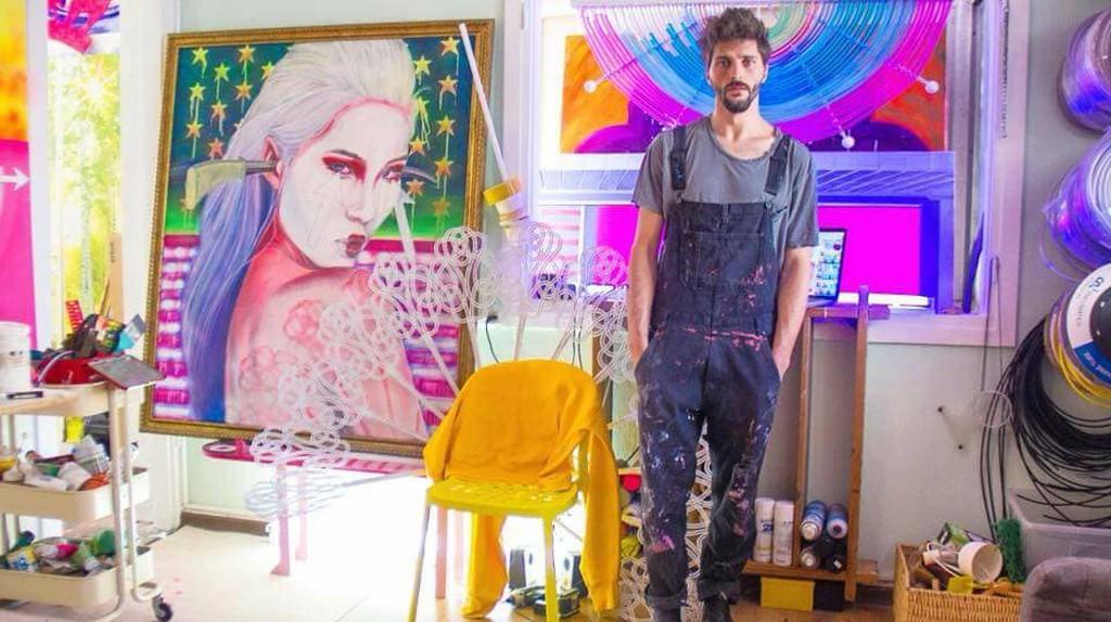 Aviv Grinberg in his studio | Courtesy of Aviv Grinberg