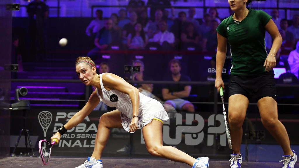 Camille Serme (left) is the No. 3 women's squash player in the world | © Ali Haider/Epa/REX/Shutterstock