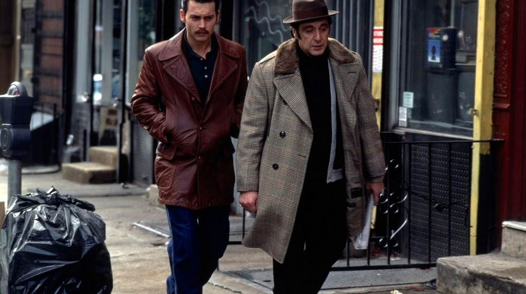 Johnny Depp and Al Pacino in 'Donnie Brasco'   © TriStar PIctures