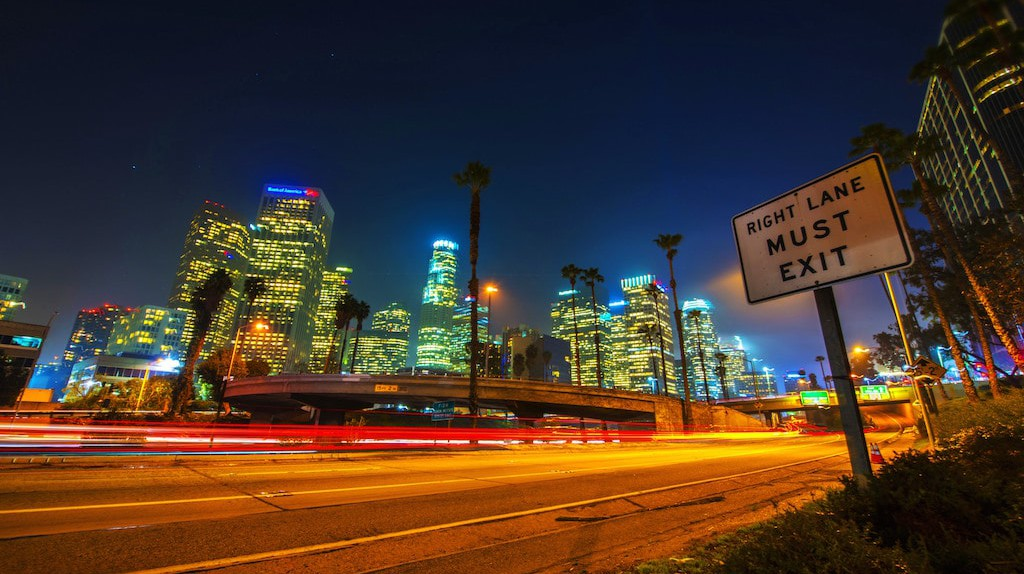Los Angeles at night   © Jeff Cleary / Flickr