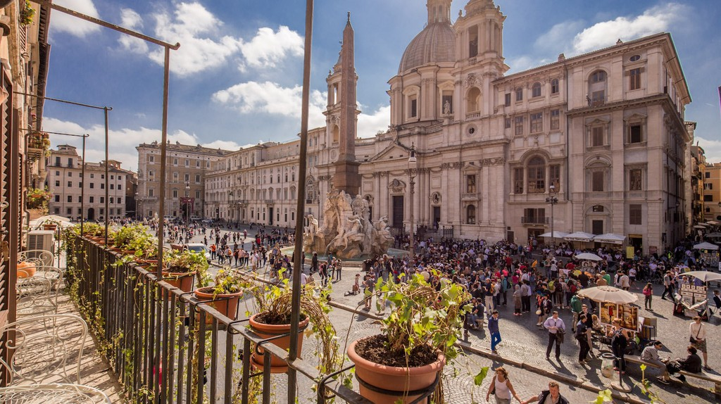 An apartment with a view overlooking Piazza Navona | © Courtesy of owners