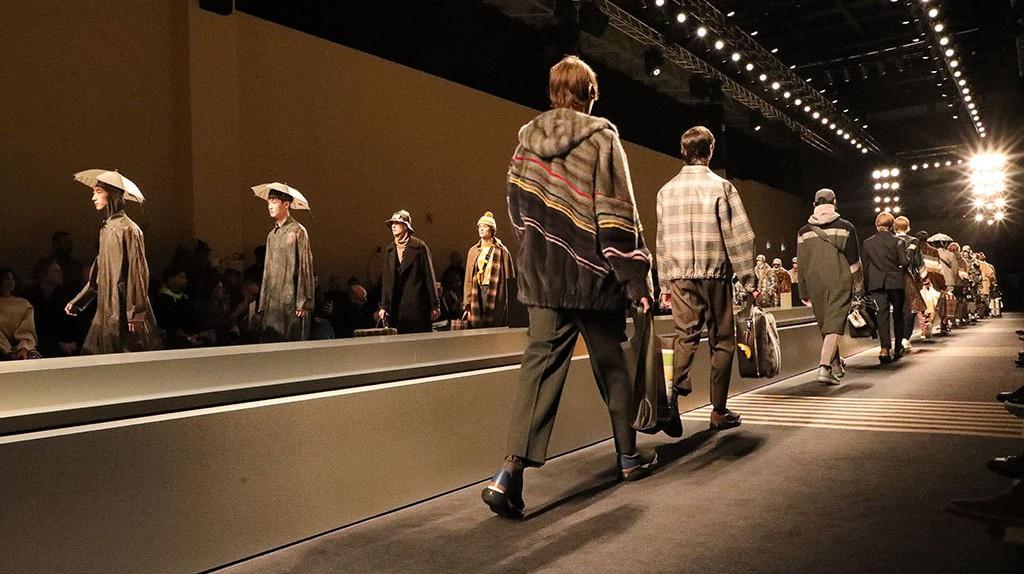 Photo by Lodovico Colli di Felizzano/WWD/REX/Shutterstock (9320171b), Models on the catwalk, Fendi show, Runway, Fall Winter 2018, Milan Fashion Week Men's, Italy – 15 Jan, 2018