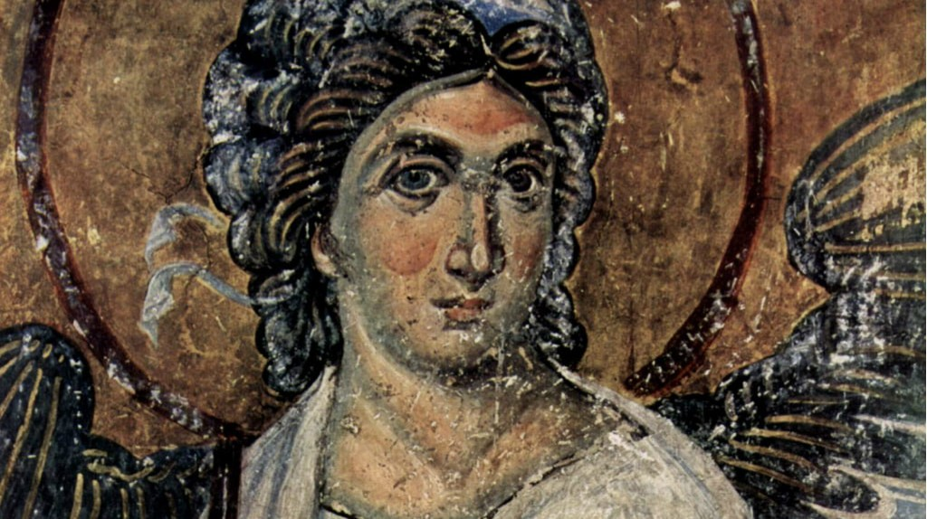 Serbia's White Angel fresco