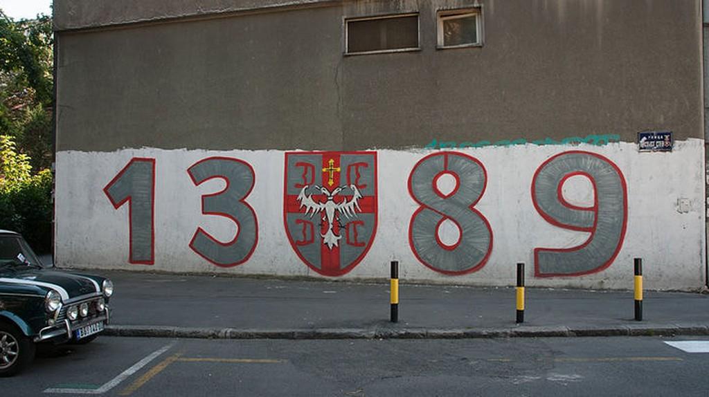 1389 graffiti is everywhere in Serbia