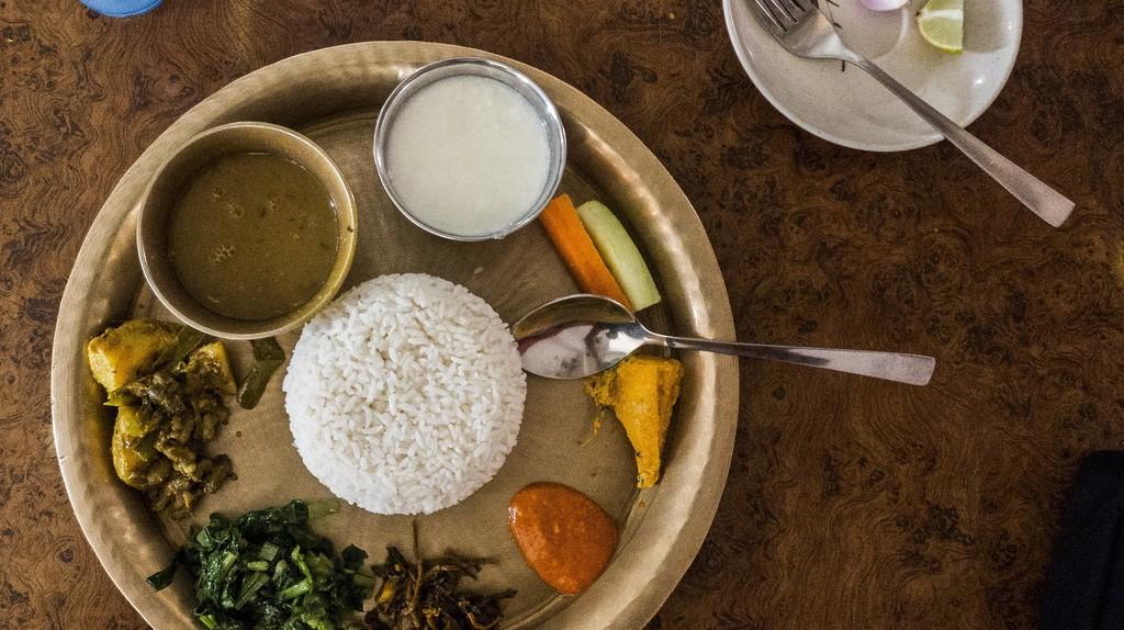 Dal bhat at Mustang Thakali Kitchen | © Sharada Prasad CS/Flickr