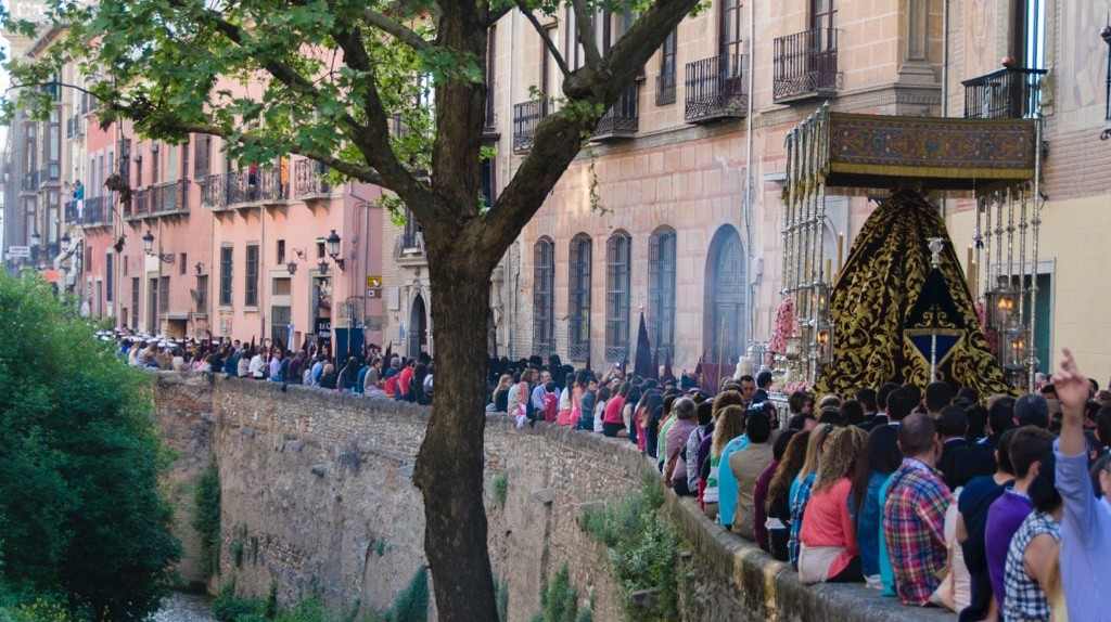 Semana Santa (Holy Week) celebrations in Granada, Spain; Oscar Daniel Rangel Huerta/flickr