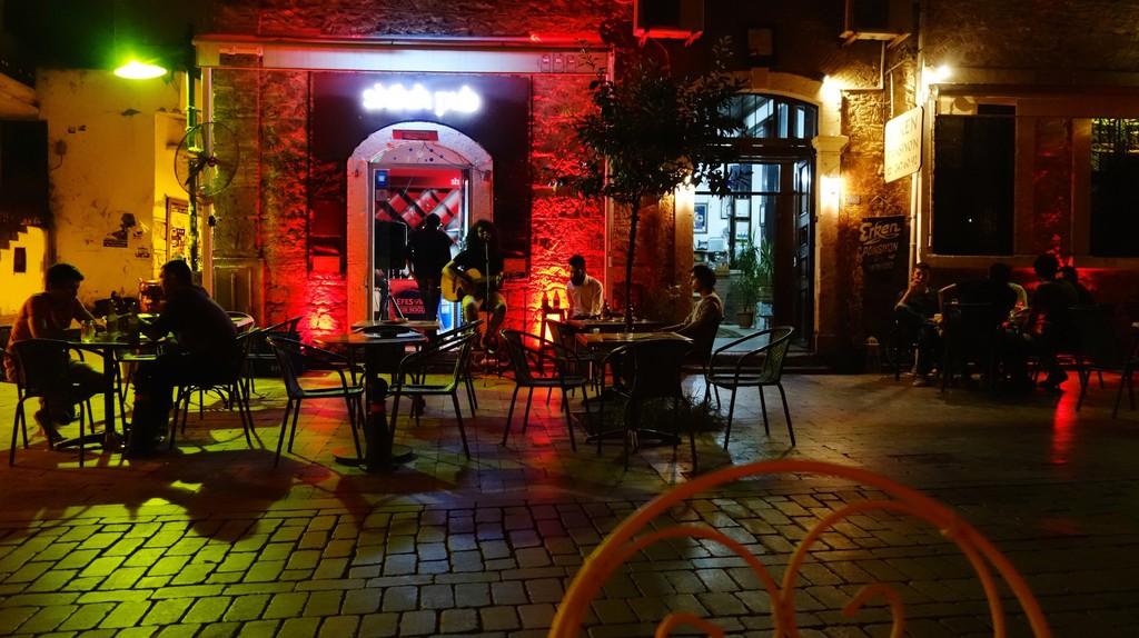 One of the many bars among Antalya's lively nightlife scene