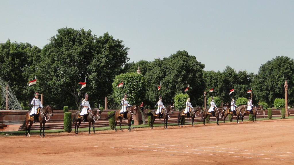 Change of Guards at the President's official residence, Rashtrapati Bhavan, New Delhi