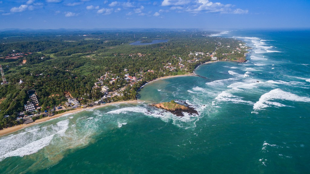 The beaches in Sri Lanka